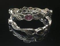 Luxury silver bracelet stock photos