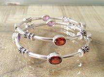 Luxury silver bracelet Royalty Free Stock Images