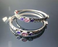 Luxury silver bracelet royalty free stock photos