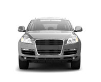 Luxury Silver Crossover Front View Royalty Free Stock Images