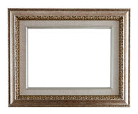 Luxury silver  frame Stock Photography