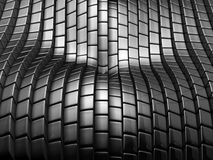 Luxury silver metal tile abstract background. 3d illustration Royalty Free Stock Photo