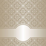 Luxury silver ornamental Background. Royalty Free Stock Photography