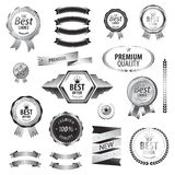 Luxury SILVER premium quality best choice labels Stock Photos