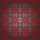 Luxury silver and red wallpaper. Seamless. Vector  Royalty Free Stock Photo