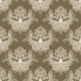Luxury silver seamless floral Wallpaper for Dessign. Royalty Free Stock Image