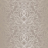 Luxury silver seamless Pattern. Stock Image