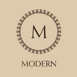 Luxury,simple  and elegant monochrome  monogram Stock Photography
