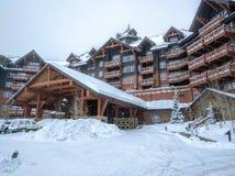 Luxury ski resort Stock Images