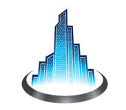 Luxury Skyscraper Logo Stock Image