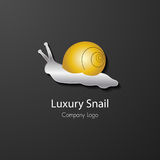 Luxury snail company logo vector. Luxury golden snail company logo vector Royalty Free Stock Photography