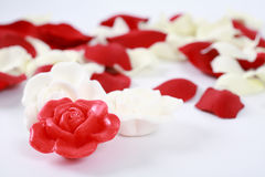 Luxury soap for wellness. Still life - Luxury soap in form of roses for wellness and spa Stock Photography