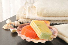 Luxury soaps Stock Photography