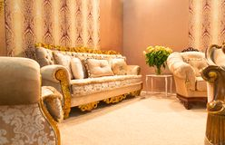 Luxury sofa in fashion interior Royalty Free Stock Images