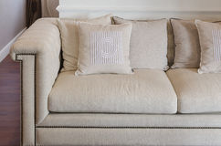 Luxury sofa in living room Stock Images