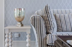 Luxury sofa and white table in living room Royalty Free Stock Images