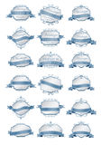 Luxury soft blue labels and blank labels template Royalty Free Stock Photos