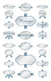 Luxury soft blue labels and blank labels template Stock Photography