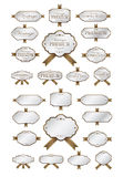 Luxury soft brow labels and blank labels template.  Stock Photos