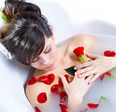 Luxury spa bath Royalty Free Stock Photo