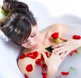 Luxury spa bath Royalty Free Stock Photo