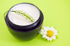 Luxury spa moisturising product with flower Stock Photography