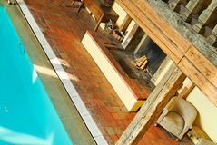 Luxury spa pool. A luxury pool with fireside in a spa in germany royalty free stock photo