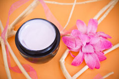 Luxury spa product with flower and branches Stock Image