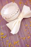 Luxury spa product: moisturising cream. Luxury spa beauty product, pot of moisturising cream Stock Images