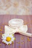 Luxury spa product: moisturising cream. Luxury spa beauty product, pot of moisturising cream Stock Image