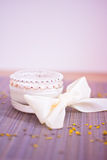 Luxury spa product: moisturising cream. Luxury spa beauty product, pot of moisturising cream Royalty Free Stock Photography