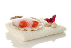 Luxury spa soap Stock Photos