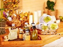 Luxury spa still life with water. Royalty Free Stock Photos