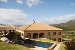 Luxury Spanish style villa with pool Royalty Free Stock Photo