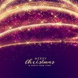 Luxury sparkles for merry christmas festival seasonal background. Illustration Royalty Free Stock Photo