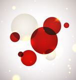 Luxury sparkling background. Vibrant red circles on soft pastel backgrounds with bokeh and sparkling stock illustration