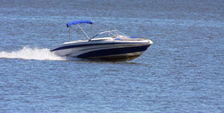 Luxury speed boat Royalty Free Stock Photos