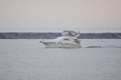 A luxury speed boat Royalty Free Stock Photos