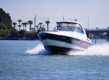 A luxury speed boat Stock Images