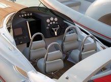 Luxury speedboat interior Stock Image