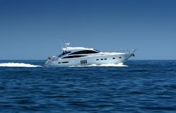 Luxury speedboat / yacht Stock Image