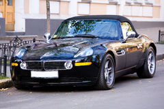Luxury sport car. Black colour stock photography