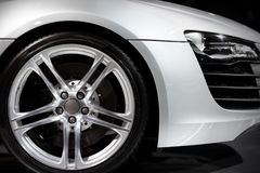Luxury sport car. Close up of german luxury sport car stock photography