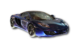 Luxury sport car. McLaren on white background stock photography
