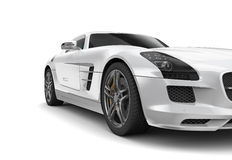 Luxury sport coupe car. Luxury white sport coupe car on white background Stock Image
