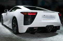 Luxury Sport Roadster. Left and rear view of luxury sport roadster royalty free stock images