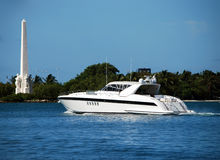 Luxury Sportfishing Boat Stock Photography
