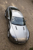 Luxury sports car seen from above Stock Photo