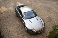 Luxury sports car seen from above Royalty Free Stock Photo