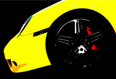 Luxury sports car vector illustration Stock Image